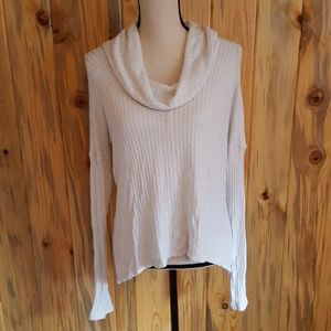 Lucky Brand white cowl neck sweater